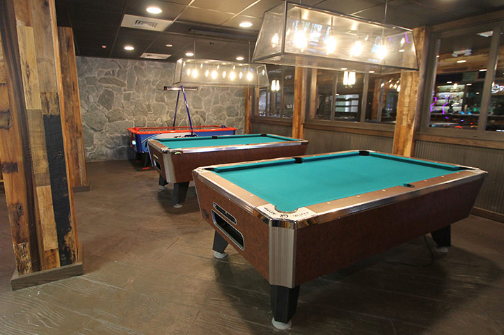 Arcade Pool Tables Shades Of Green - How much room is needed for a pool table