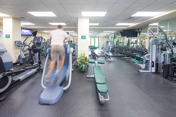 Fitness center :: shades of green